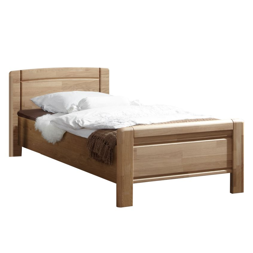bett medias eiche teilmassiv 120 x 190cm franco m bel g nstig. Black Bedroom Furniture Sets. Home Design Ideas