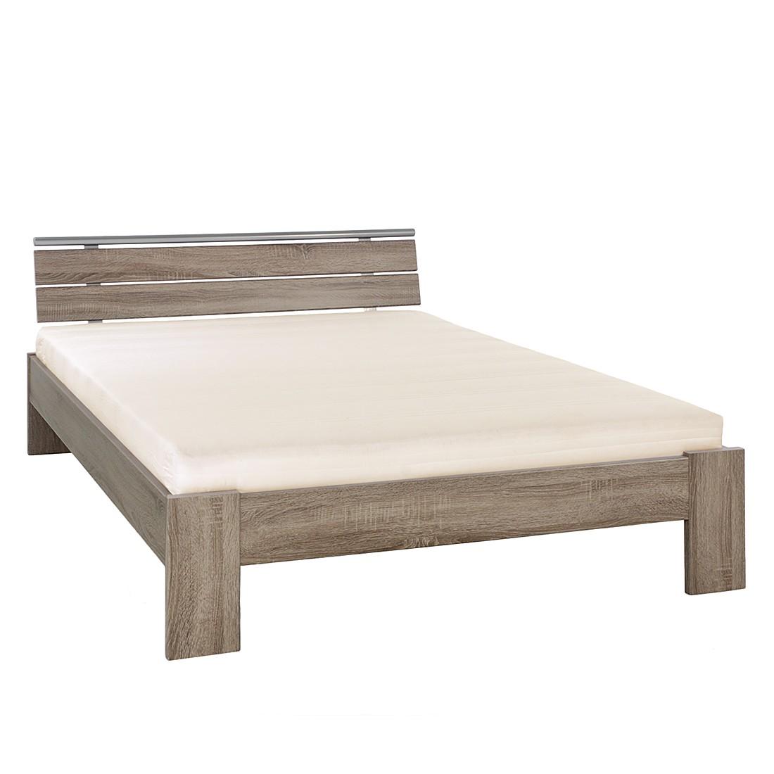 bett megan 140 x 200cm bettgestell mit matratze lattenrost tr ffeleiche dekor home. Black Bedroom Furniture Sets. Home Design Ideas