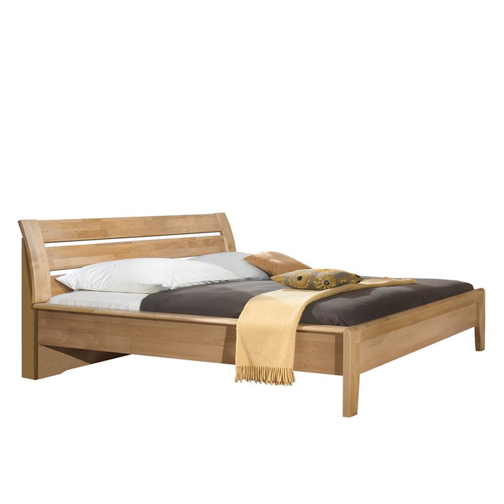 bett merkur erle teilmassiv zwei nischen liegefl che l nge 200 x 210 cm franco m bel. Black Bedroom Furniture Sets. Home Design Ideas
