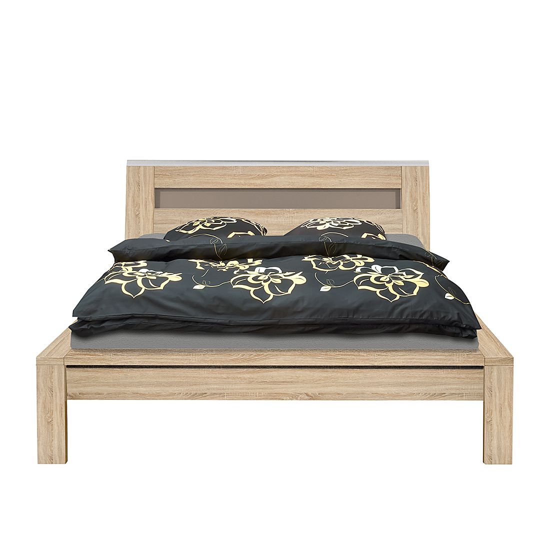 bett trends ii 180 x 200cm eiche dekor glas steingrau arte m online kaufen. Black Bedroom Furniture Sets. Home Design Ideas