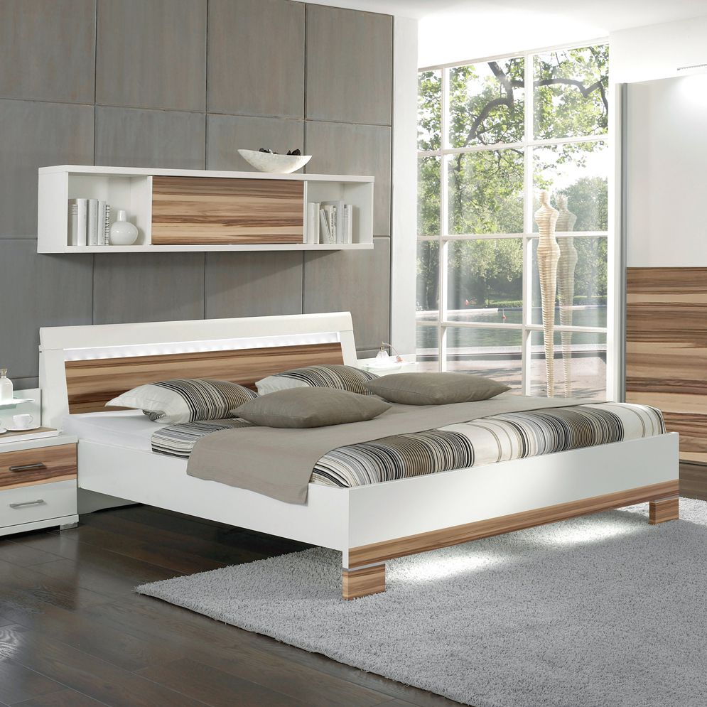 wandregal leon wei noce graphit dekor mit schiebet r breite 150 cm franco m bel online. Black Bedroom Furniture Sets. Home Design Ideas