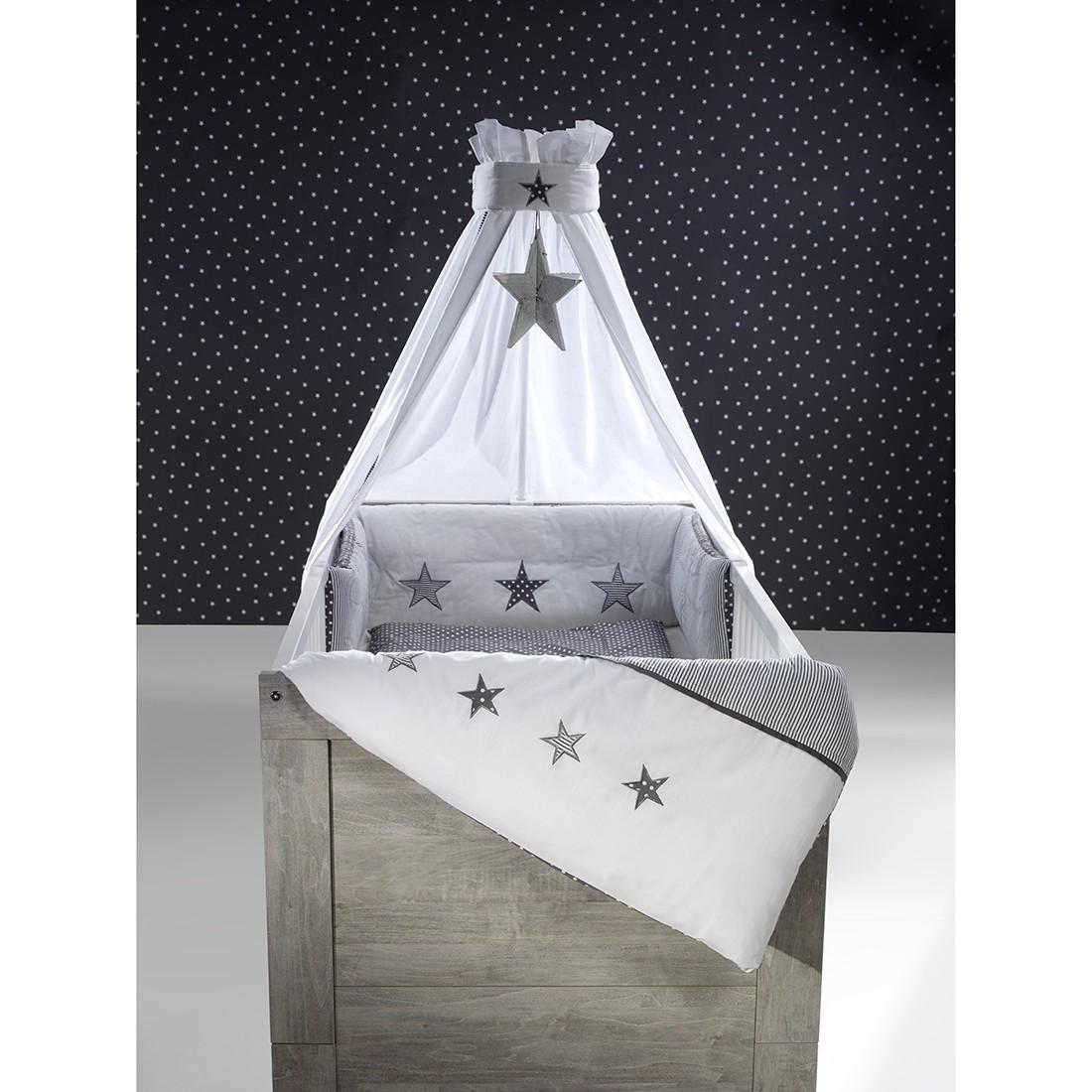 bettset stern 4 teilig grau schardt g nstig bestellen. Black Bedroom Furniture Sets. Home Design Ideas