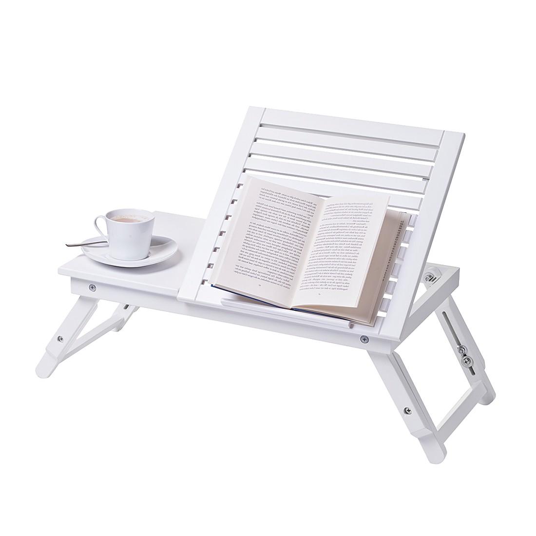 Betttablett – Weiß, mit Leseklappe, Zeller online bestellen