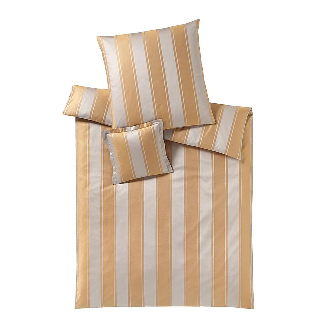 Bettwäsche Astor Mandel – Baumwolle – Braun – 135X200 cm + 80X80 cm, elegante online bestellen
