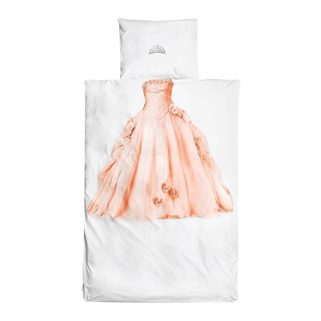 Bettwäsche – Baumwolle – Weiß/Rosa, PureDay günstig kaufen