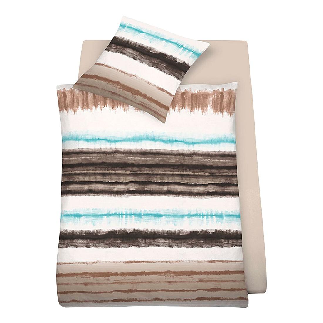 bettw sche bilbao braun polyester braun 155x220 cm 80x80 cm schlafgut g nstig. Black Bedroom Furniture Sets. Home Design Ideas