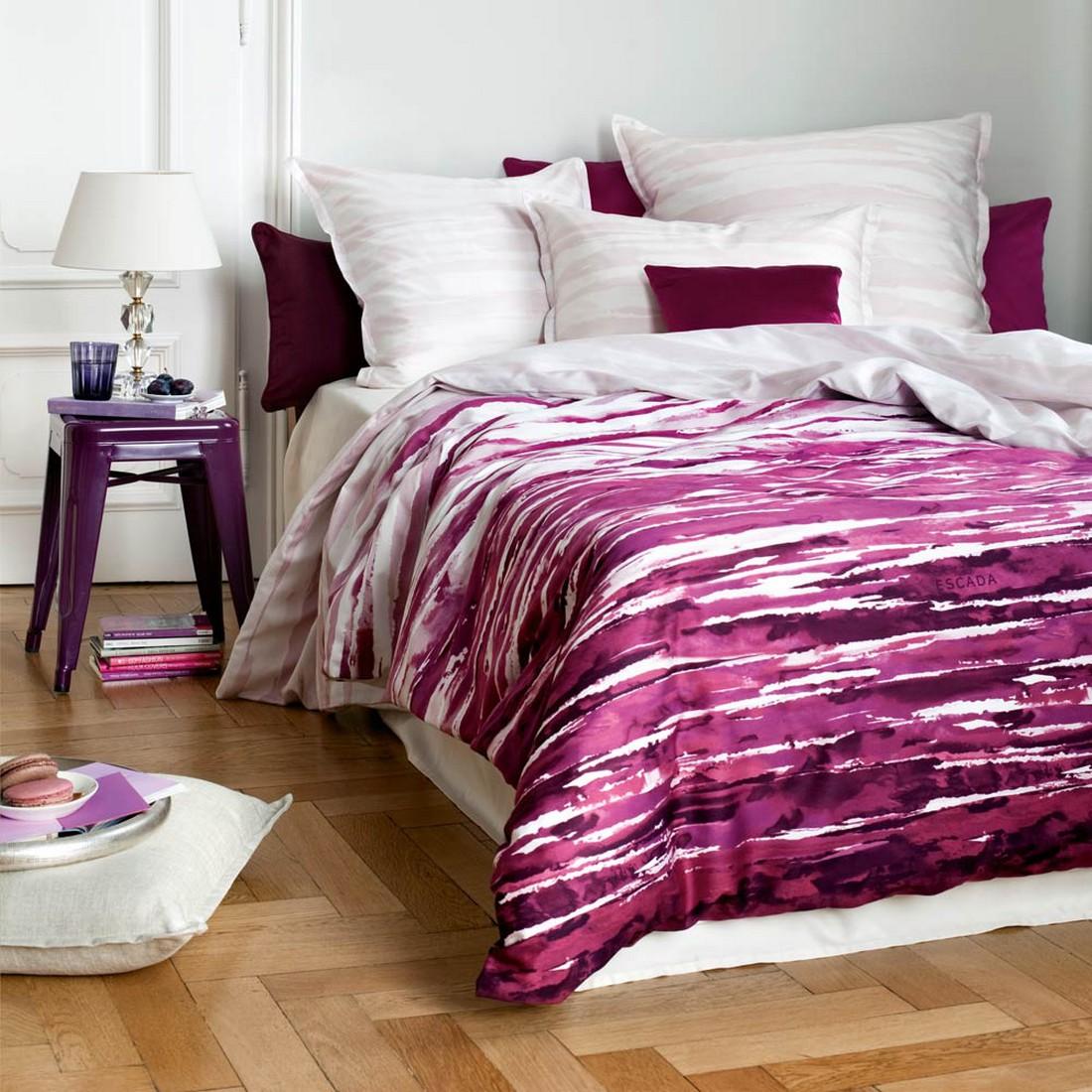 Bettwäsche Bordeaux Baumwolle Violett Kopfkissenbezug