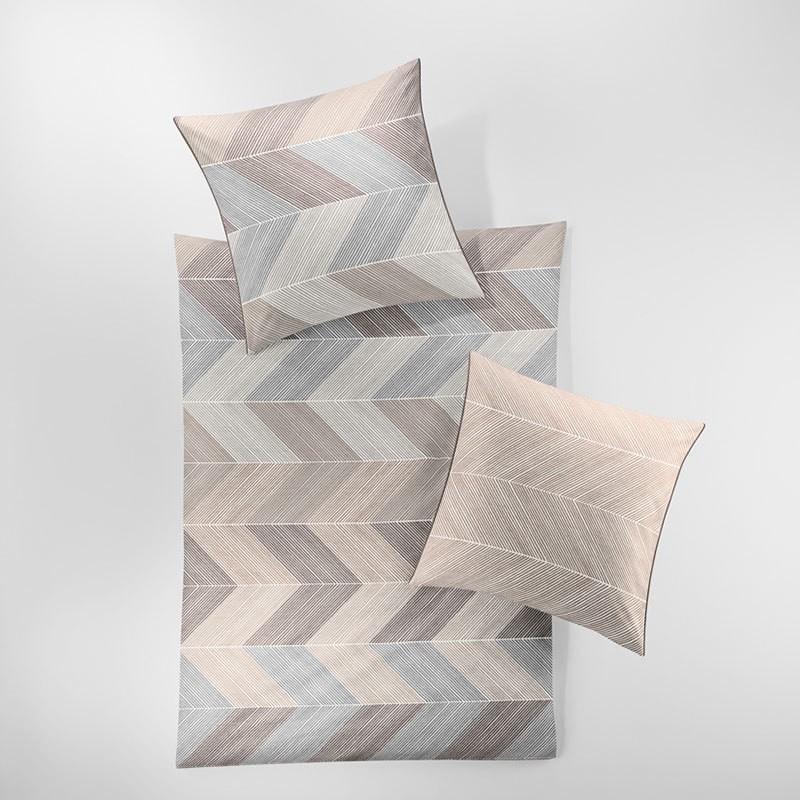 Bettwäsche Capri 8142-80 – Baumwolle – Grau – 135×200 cm + 80×80 cm, Irisette günstig