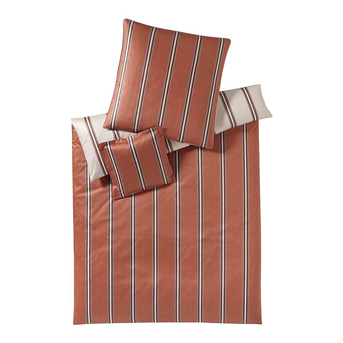 Bettwäsche Cascade Zimt – Baumwolle – Braun – 155X220 cm + 80X80 cm, elegante jetzt kaufen