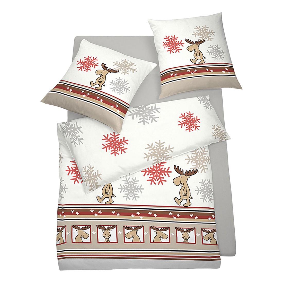bettw sche elch rot polyester rot 155x220 cm 80x80 cm schlafgut online kaufen. Black Bedroom Furniture Sets. Home Design Ideas