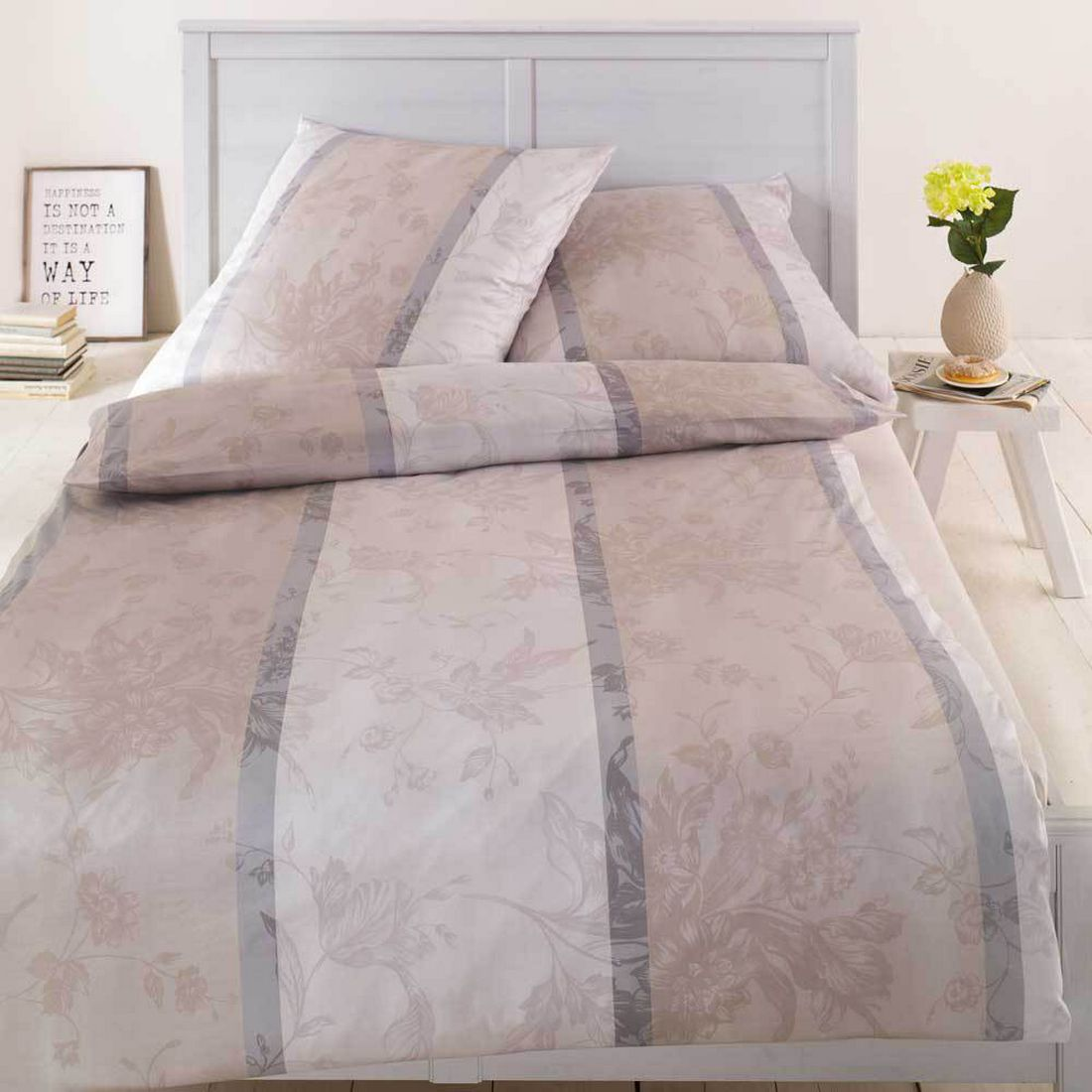 Bettwäsche – Eliza Kiesel – Baumwolle – Beige – 135×200 cm + 80×80 cm, Estella jetzt kaufen
