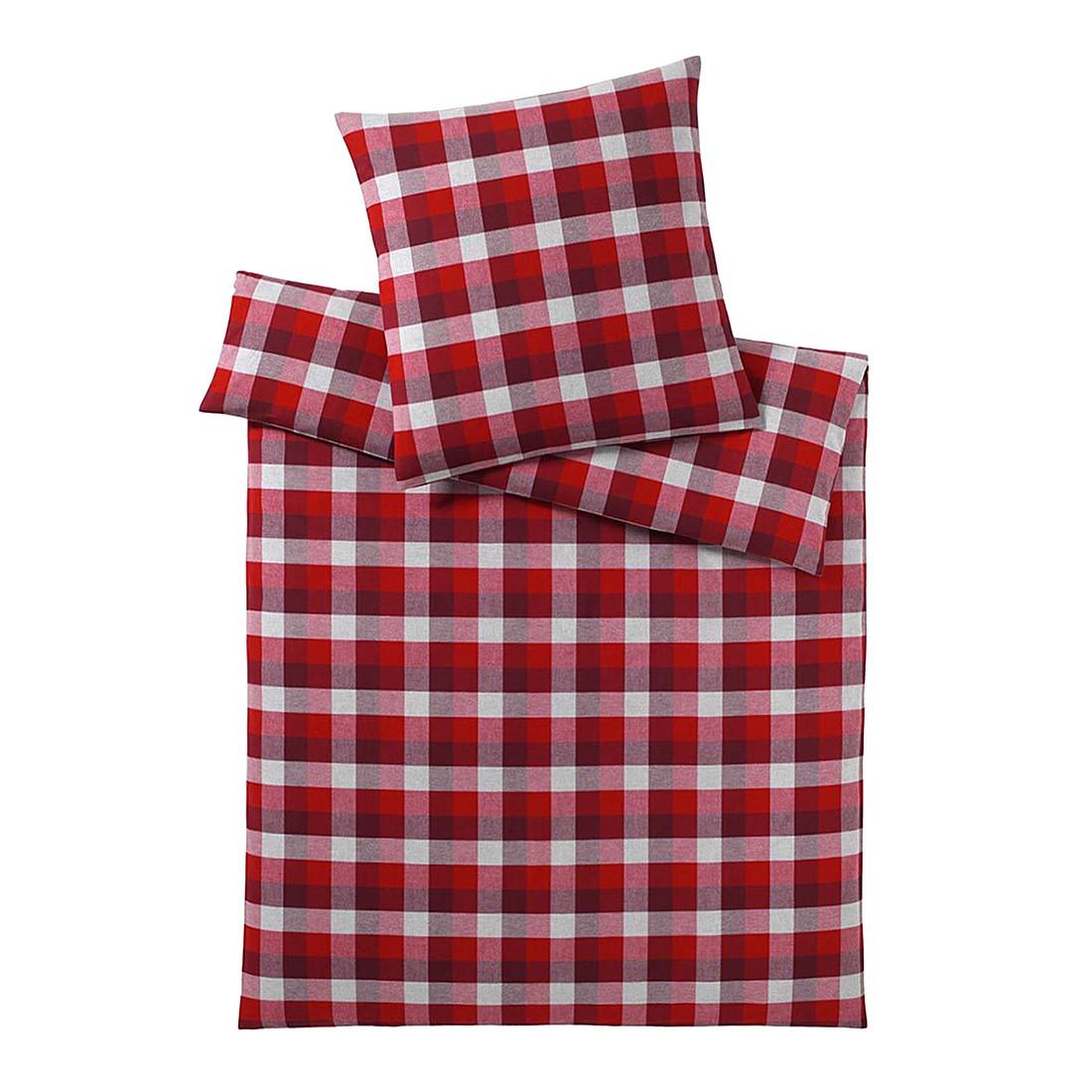 Bettwäsche Estate Burgund – Baumwolle – Rot – 135X200 cm + 80X80 cm, elegante jetzt kaufen