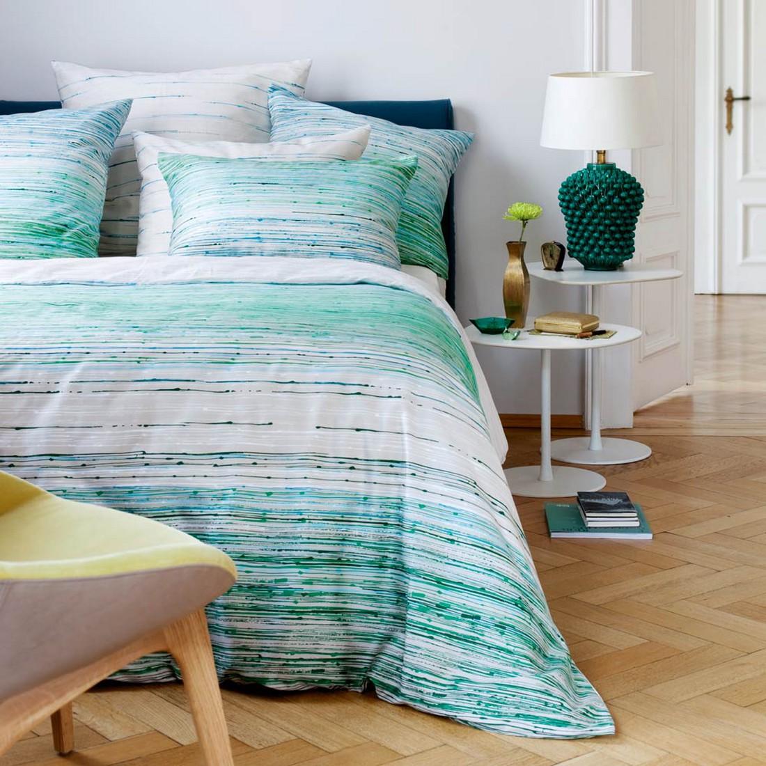 bettw sche evergreen t rkis baumwolle gr n. Black Bedroom Furniture Sets. Home Design Ideas