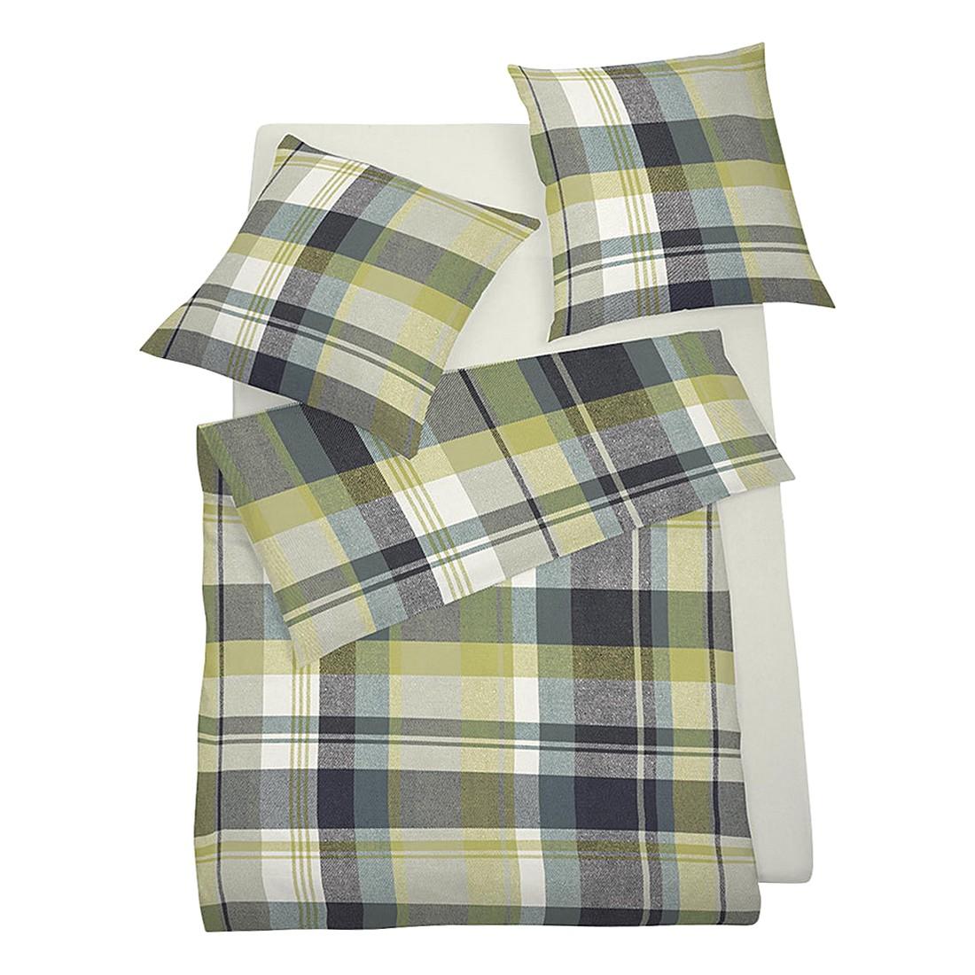 Bettwäsche Harrison Grün – Polyester – Grün – 135X200 cm + 80X80 cm, Schlafgut günstig online kaufen