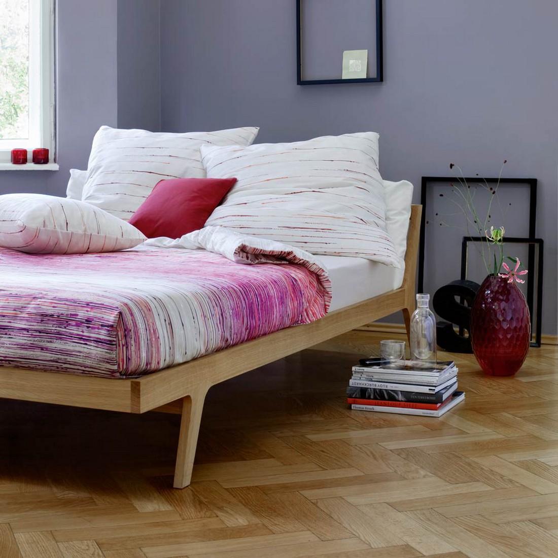 Bettwäsche – Indian Summer Red – Baumwolle – Violett – Kopfkissenbezug einzeln 40×40 cm, Escada günstig bestellen