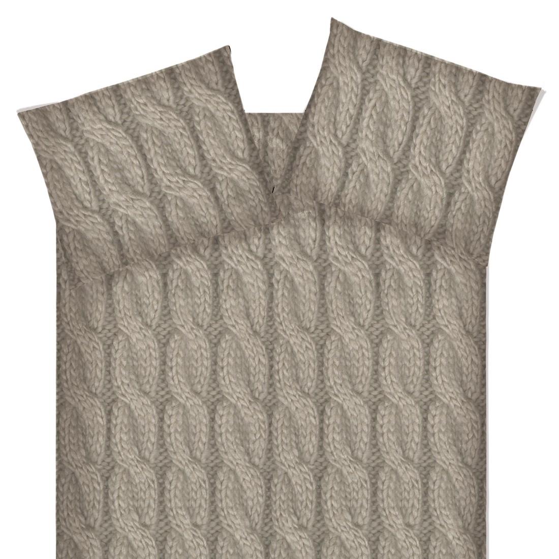 Bettwäsche Ivory Lufness - Flanell - Sand - 200x220, Beddinghouse