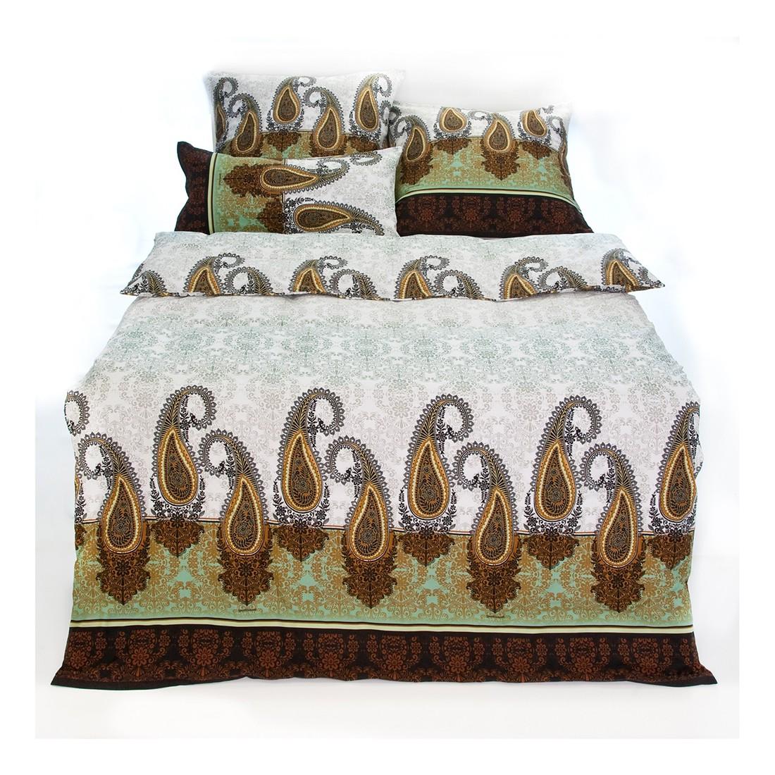 Bettwäsche Kaula – Mako – Satin – 100% Baumwolle – Braun – V2 – Kissen-/ Deckenbezug: 2x 80 x 80 cm / 200 x 200 cm, bassetti günstig kaufen