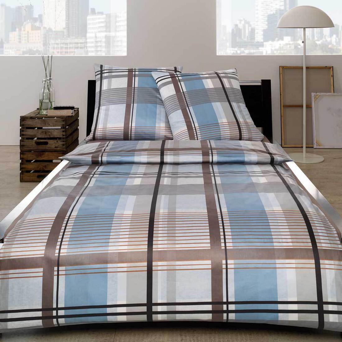 bettw sche leandro taube baumwolle blau 135x200 cm. Black Bedroom Furniture Sets. Home Design Ideas