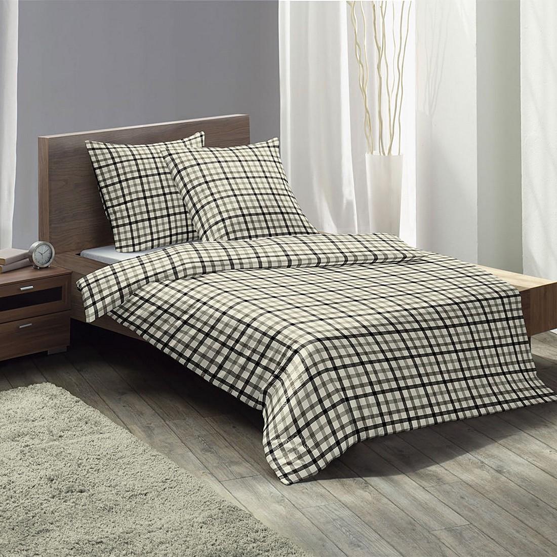 bettw sche lech baumwolle schwarz 155x220 cm 80x80 cm fleuresse g nstig online kaufen. Black Bedroom Furniture Sets. Home Design Ideas