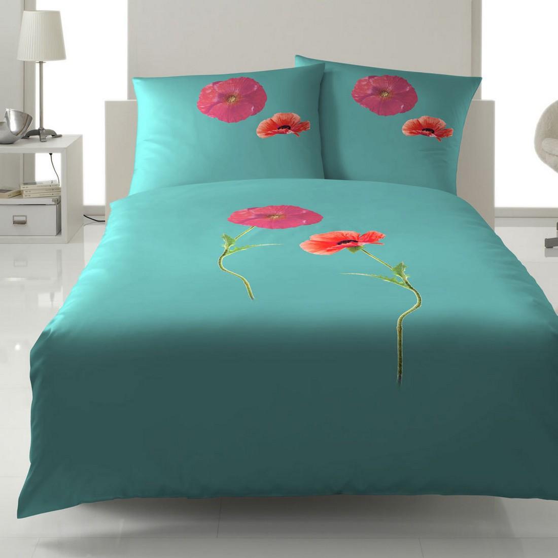 Bettwäsche – Mak Grün – Baumwolle – Mehrfarbig – 155×220 cm + 80×80 cm, Yes for bed bestellen