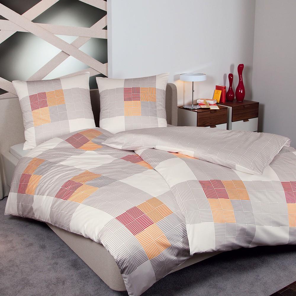 Bettwäsche Mako-Satin Messina – Baumwolle – Mehrfarbig – 135×200 cm + 80×80 cm, Janine jetzt kaufen