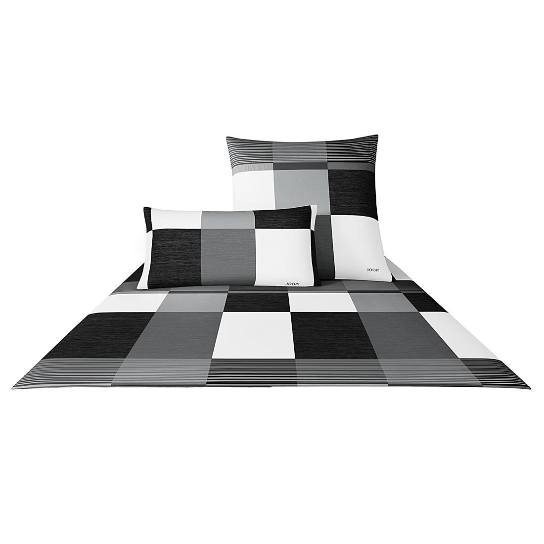 Bettwäsche Mako-Satin Plaza Squares 4051 – Baumwolle – Schwarz-Weiß – 80×80 cm – 155×220 cm, Joop jetzt bestellen