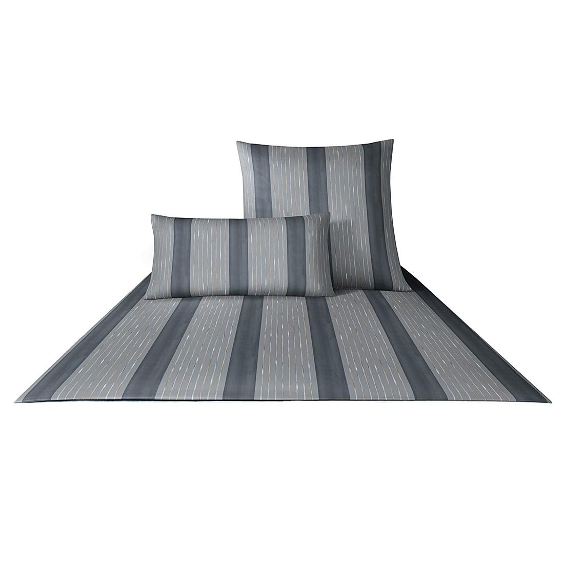 Bettwäsche Mako-Satin Plaza Stripes 4052 – Baumwolle – Cappuccino – 80×80 cm – 155×220 cm, Joop günstig kaufen