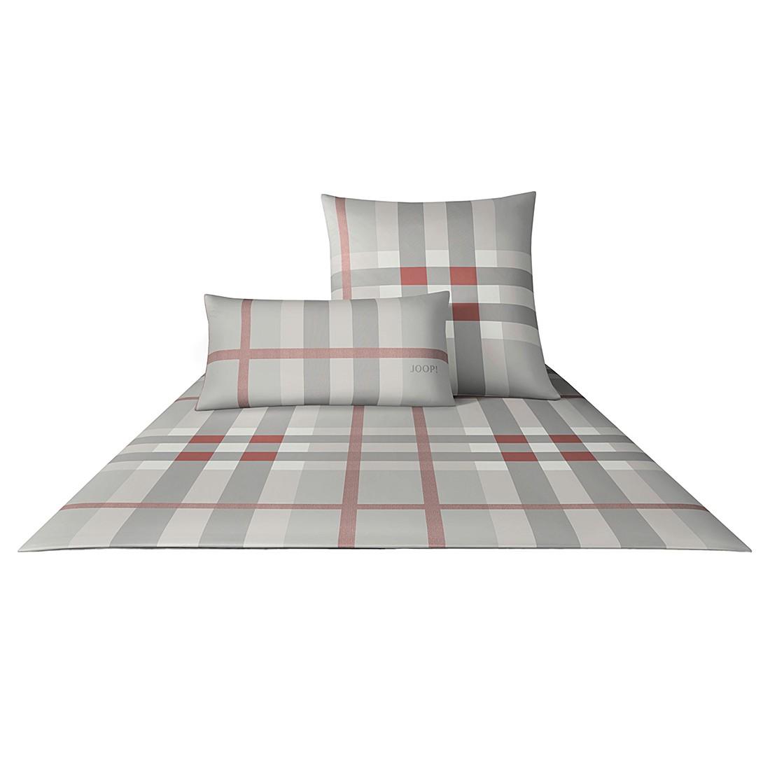 Bettwäsche Mako-Satin Shaded Squares 4509 – Baumwolle – Korallenrot – Kissen 40×80 cm, Joop günstig