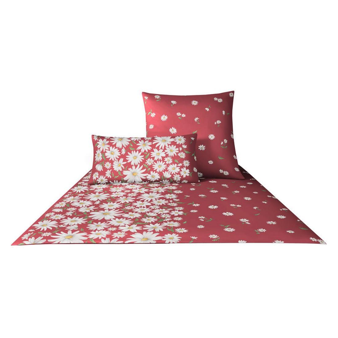 Bettwäsche Margaritha – Baumwolle/Jersey – Rot – 135×200 cm + 80×80 cm, elegante jetzt kaufen