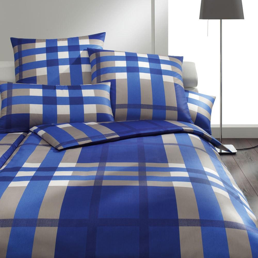 Bettwäsche Noble Squares indigo – 100% Baumwolle – Mehrfarbig – 155 x 220 cm, Joop online bestellen