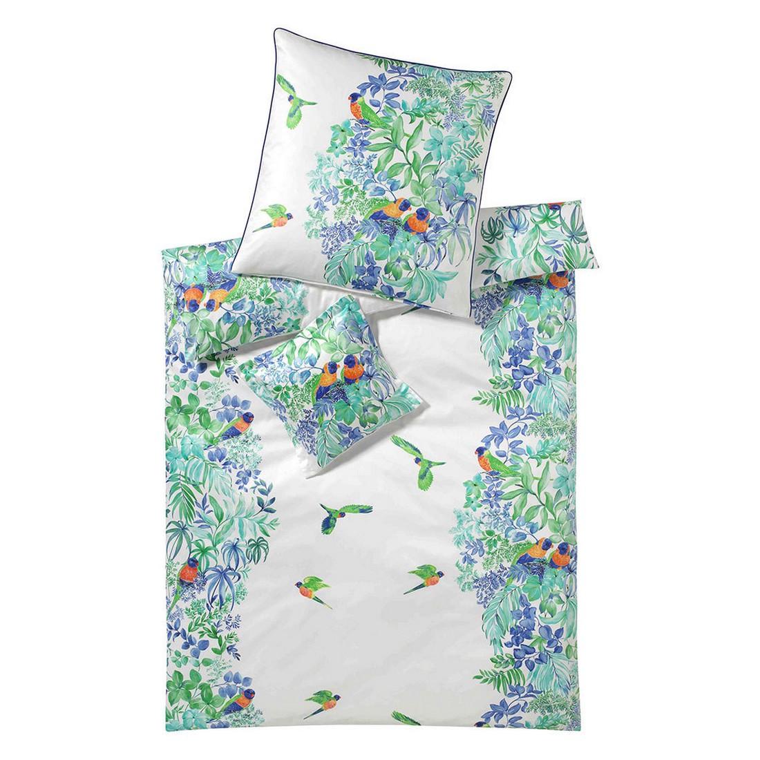 Bettwäsche Paradiesvogel – Baumwolle/Mako-Satin – Mehrfarbig – 135×200 cm + 80×80 cm, elegante günstig kaufen
