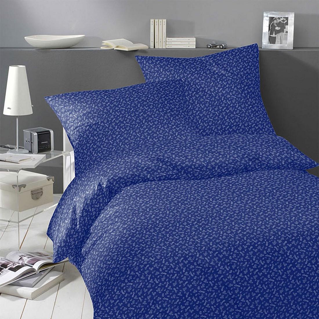 Bettwäsche Pure&Simple Paisley Dunkelblau – Baumwolle – Mehrfarbig – 135X200 cm + 80X80 cm, Yes for bed günstig bestellen