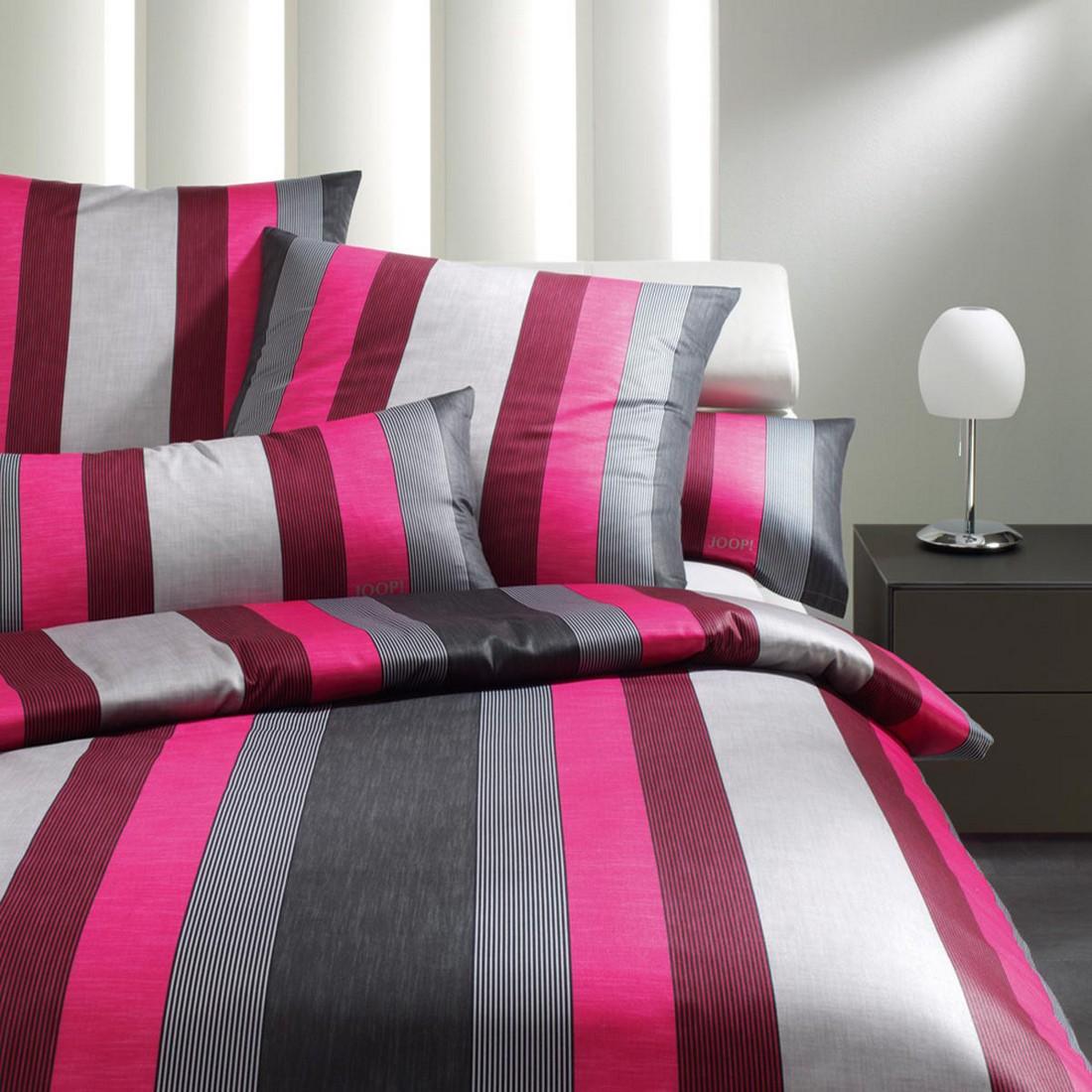 Bettwäsche Rapid Stripes cassis 4043-1 – 100% Baumwolle – Mehrfarbig – 135 x 200 cm, Joop jetzt bestellen