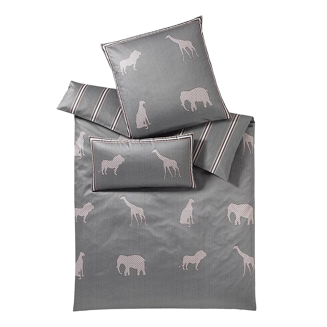 Bettwäsche Savanne Platin – Baumwolle – Grau – 135X200 cm + 80X80 cm, elegante jetzt kaufen