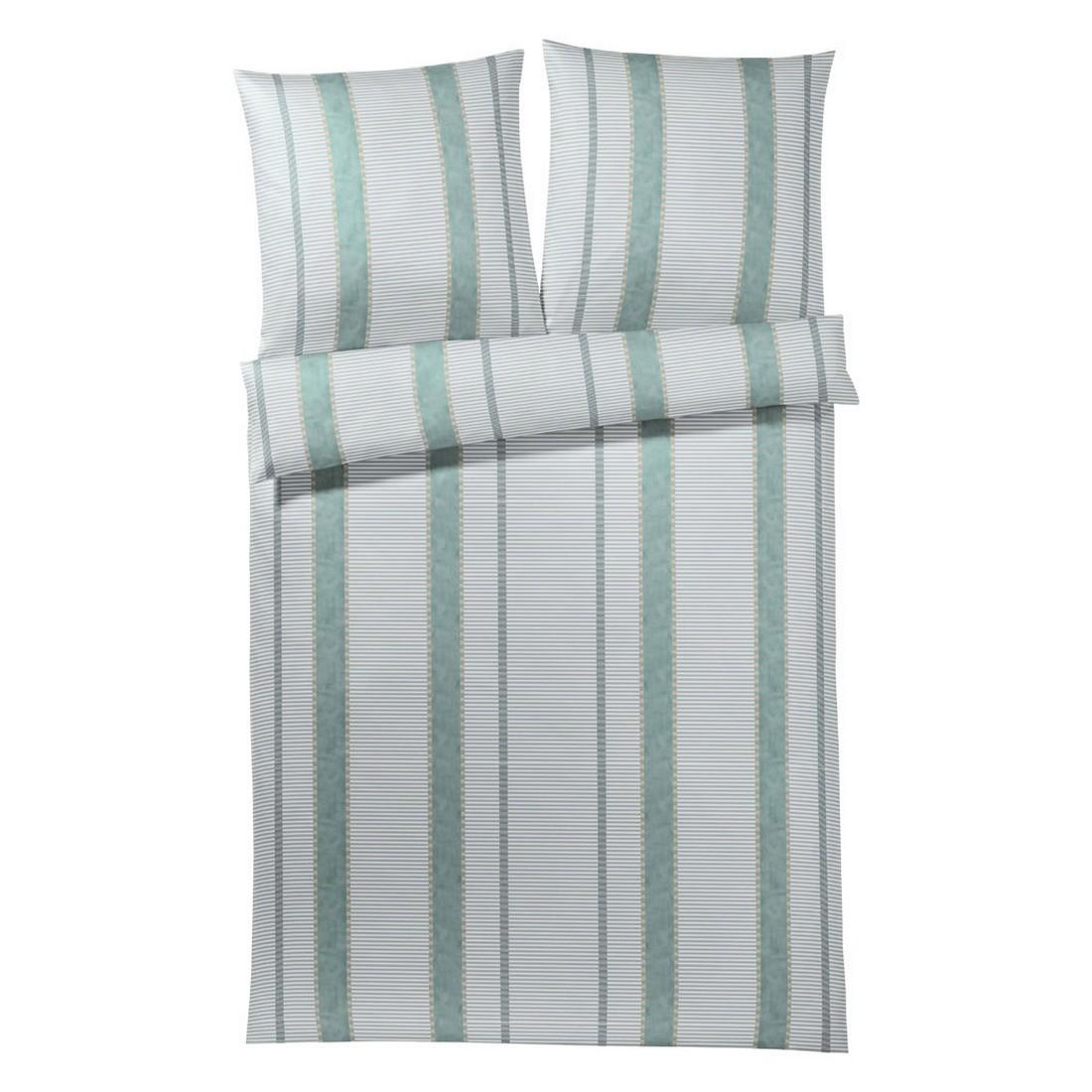Bettwäsche Sila – Baumwolle/Mako-Satin – Jade/Grün – 135×200 cm + 80×80 cm, elegante jetzt bestellen