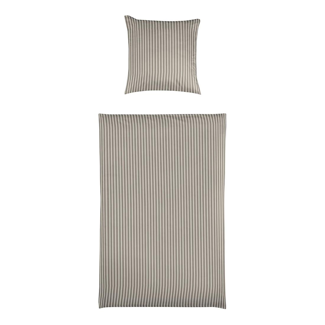 Bettwäsche Small Stripe Sand – Baumwolle – Mehrfarbig – 135X200 cm + 80X80 cm, Yes for bed günstig online kaufen