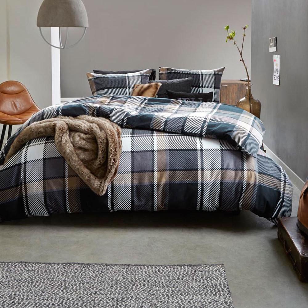 Bettwäsche Stanford anthrazit – Baumwolle – schwarz – 135×200 cm + 80×80 cm, BH günstig bestellen
