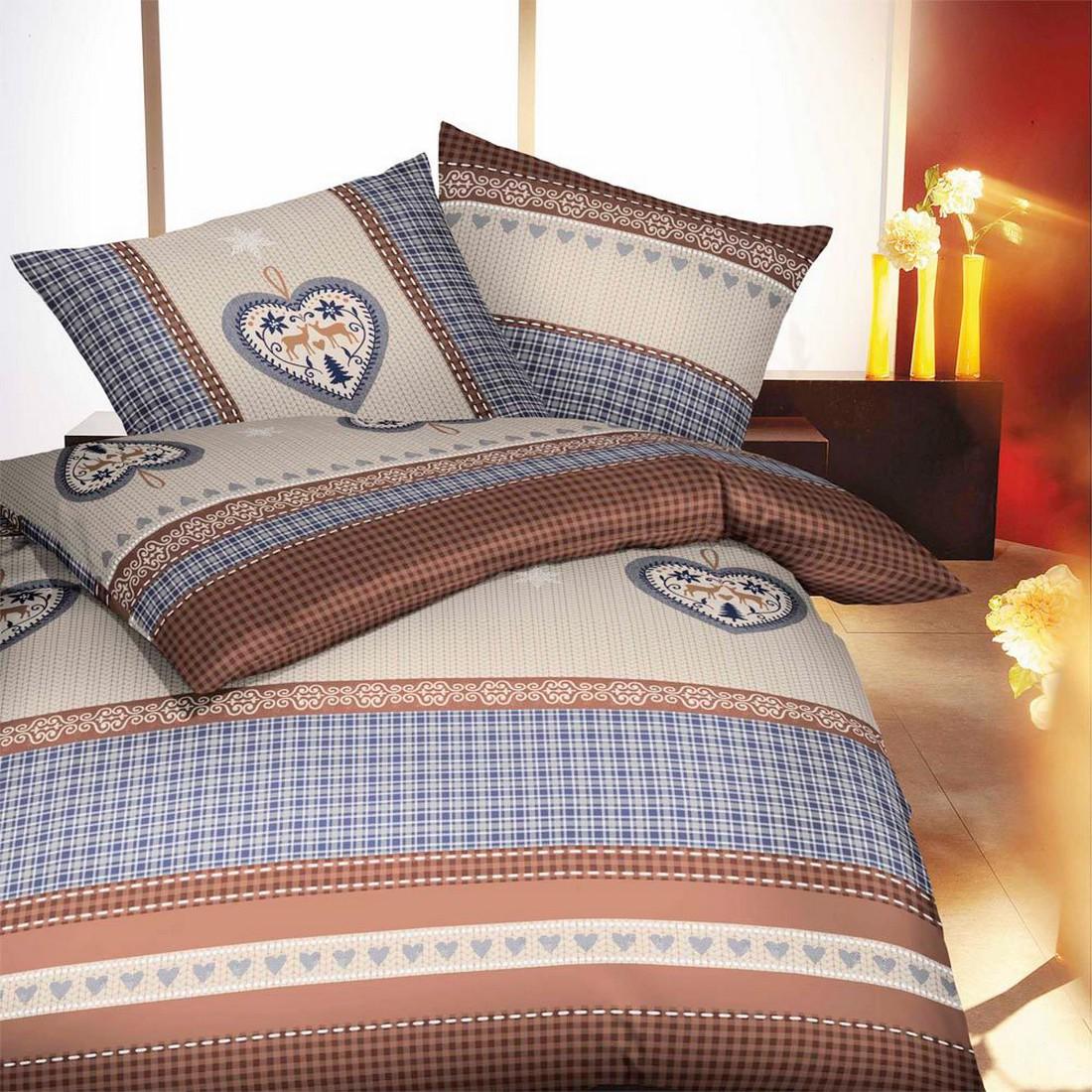 Bettwäsche – Winterlove – Biber/Baumwolle – Braun – 155×220 cm + 80×80 cm, kaeppel jetzt bestellen