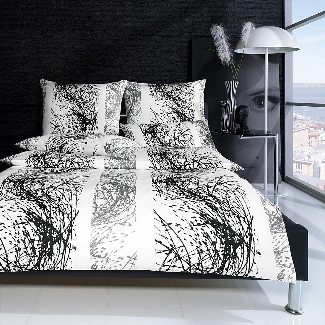 bettw sche l we black baumwolle schwarz 135x200 cm. Black Bedroom Furniture Sets. Home Design Ideas