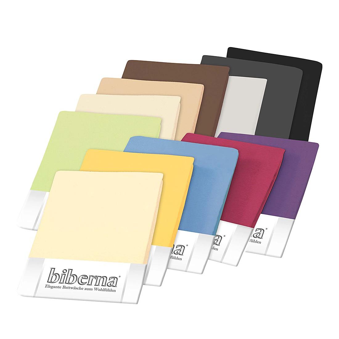 Jersey-Elastic-Boxspring Spannbetttuch – Gelb – 180-200 x 200-220 cm, Biberna jetzt bestellen