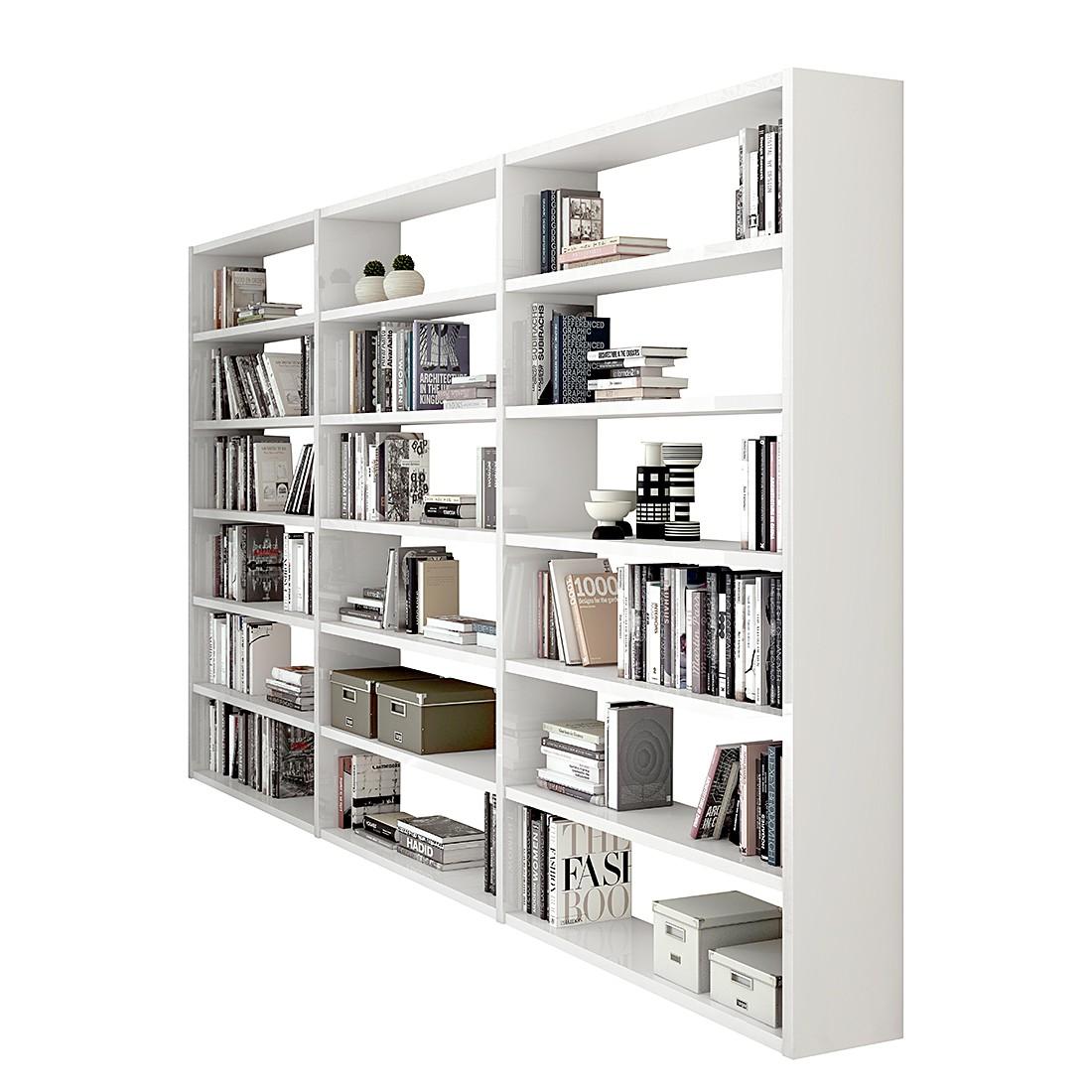 Bibliothek Empire – Hochglanz Weiß, loftscape online kaufen