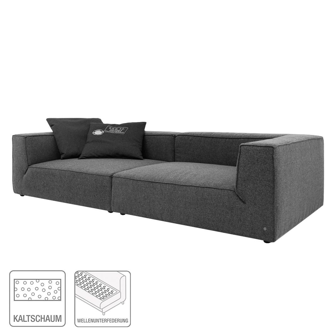 Bigsofa Big Cube (4-Sitzer) – Webstoff Anthrazit – Ohne Kissen – 270 x 122cm, Tom Tailor bestellen