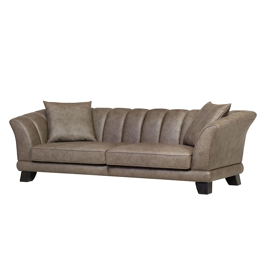Bigsofa Mira (4-Sitzer) – Lederoptik Braun, Maison Belfort günstig bestellen