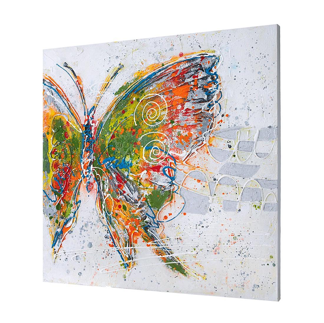 Bild Fresh Butterfly – Holz/Leinen – Bunt, PureDay bestellen