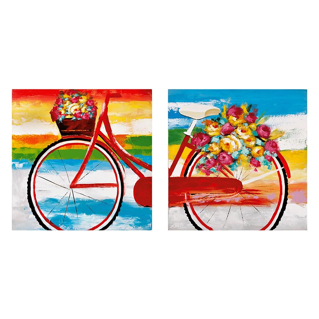 Bilder Summer Bike 2-teilig – Holz/Leinen – Bunt, PureDay jetzt kaufen