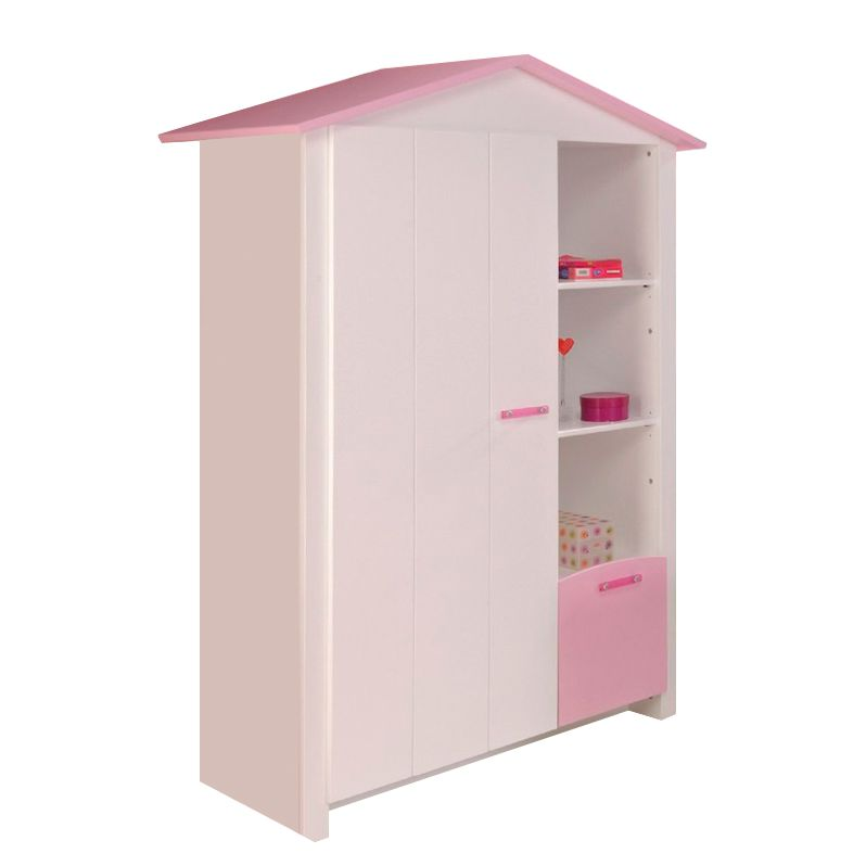 kleiderschrank biotiful wei rosa. Black Bedroom Furniture Sets. Home Design Ideas