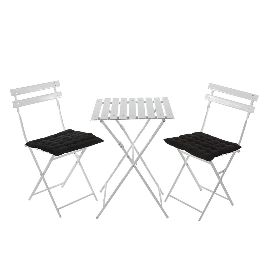 gartengarnitur genk wei tisch sprossen kissen schwarz mendler g nstig online kaufen. Black Bedroom Furniture Sets. Home Design Ideas