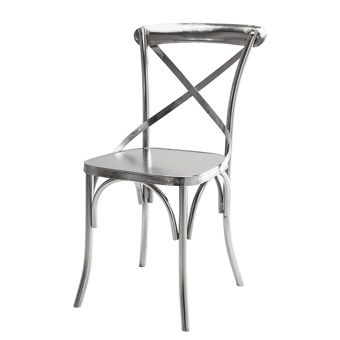 Bistrostuhl Castillo (2er-Set) - Eisen - Silber, Kare Design