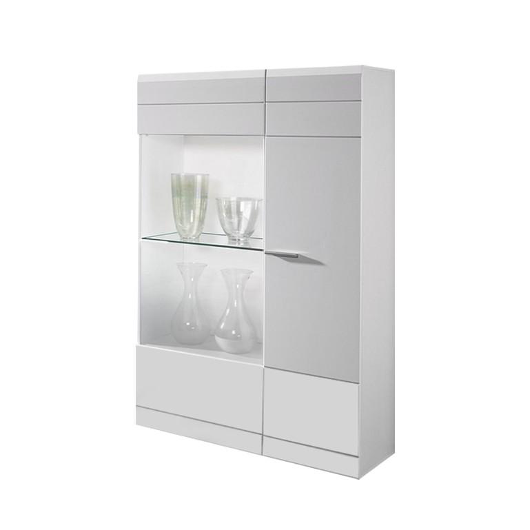 highboard set carero 2 teilig hochglanz wei. Black Bedroom Furniture Sets. Home Design Ideas