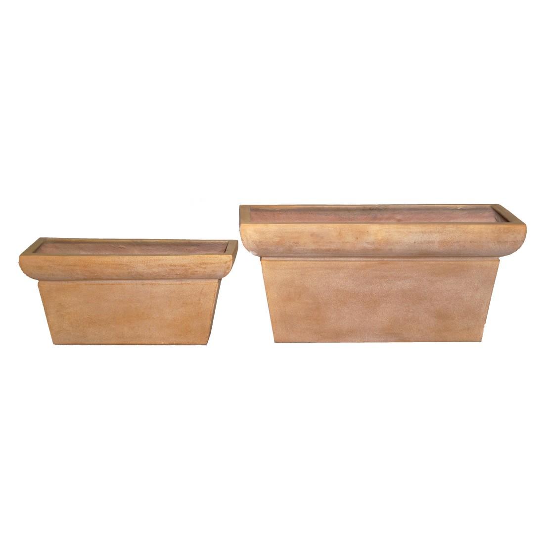 Blumenkasten ISI Cotto – Kunststoff – Terracota – Design Eckig – 45 cm 20 cm Tiefe: 27 cm, Viducci's Garden bestellen